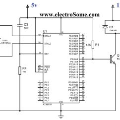 Wiring Diagram Symbol For Relay Simple View Of Reading Interfacing With 8051 Using Keil C At89c51