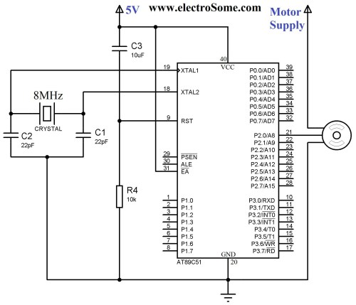small resolution of interfacing servo motor with 8051 circuit diagram