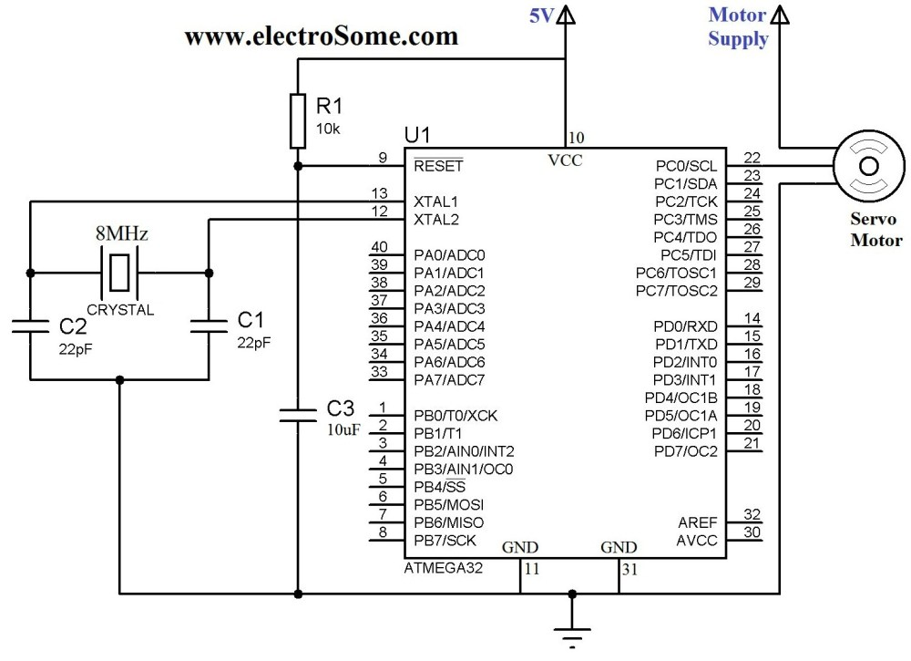 medium resolution of interfacing servo motor with atmega32 microcontroller circuit diagram