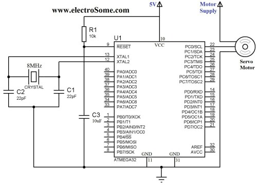 small resolution of interfacing servo motor with atmega32 microcontroller circuit diagram