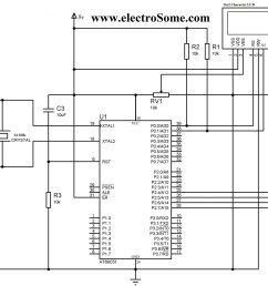 lcd interfacing with 8051 using keil c 4 bit mode circuit diagram interfacing lcd with 8051 [ 2048 x 1500 Pixel ]