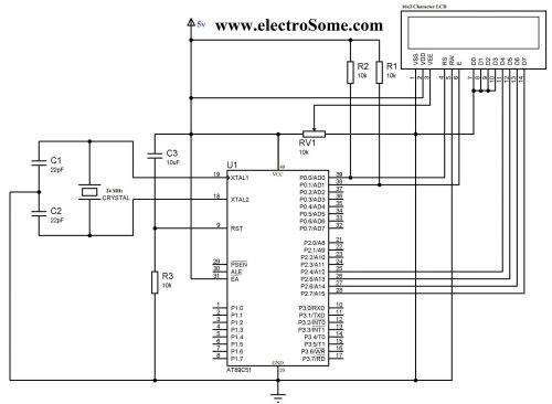 small resolution of lcd interfacing with 8051 using keil c 4 bit mode circuit diagram interfacing lcd with 8051