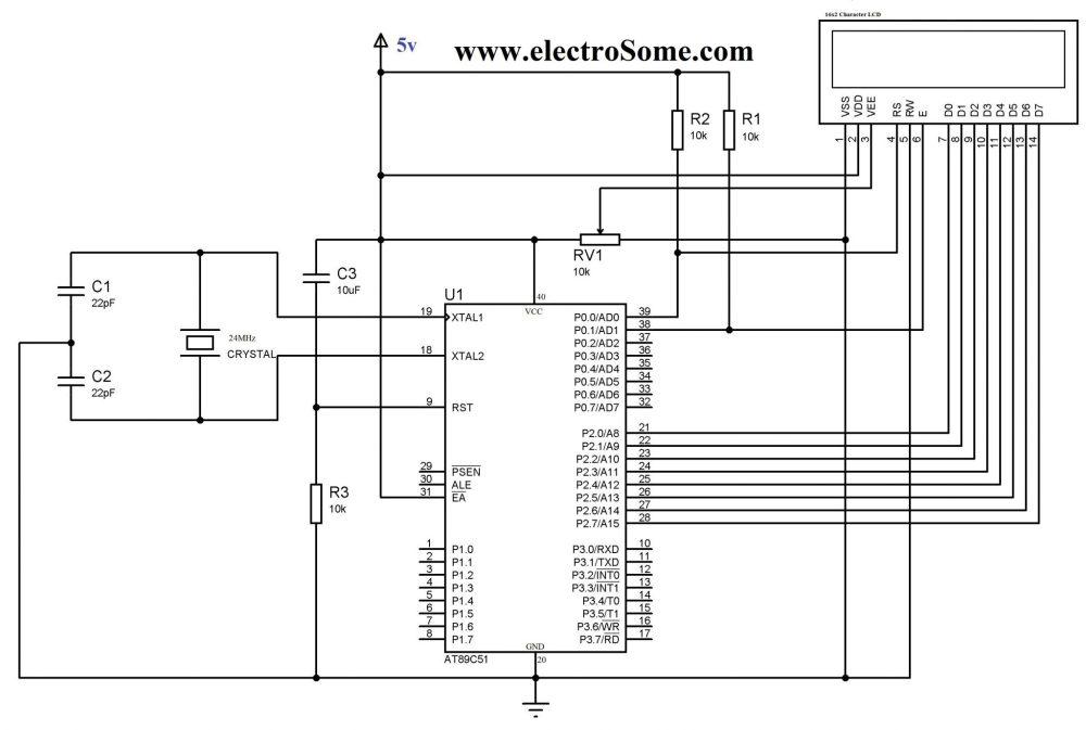 medium resolution of lcd interfacing with 8051 using keil c 8 bit mode circuit diagram