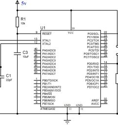 circuit diagram using push button switch with atmega32 using atmel studio [ 2048 x 1332 Pixel ]