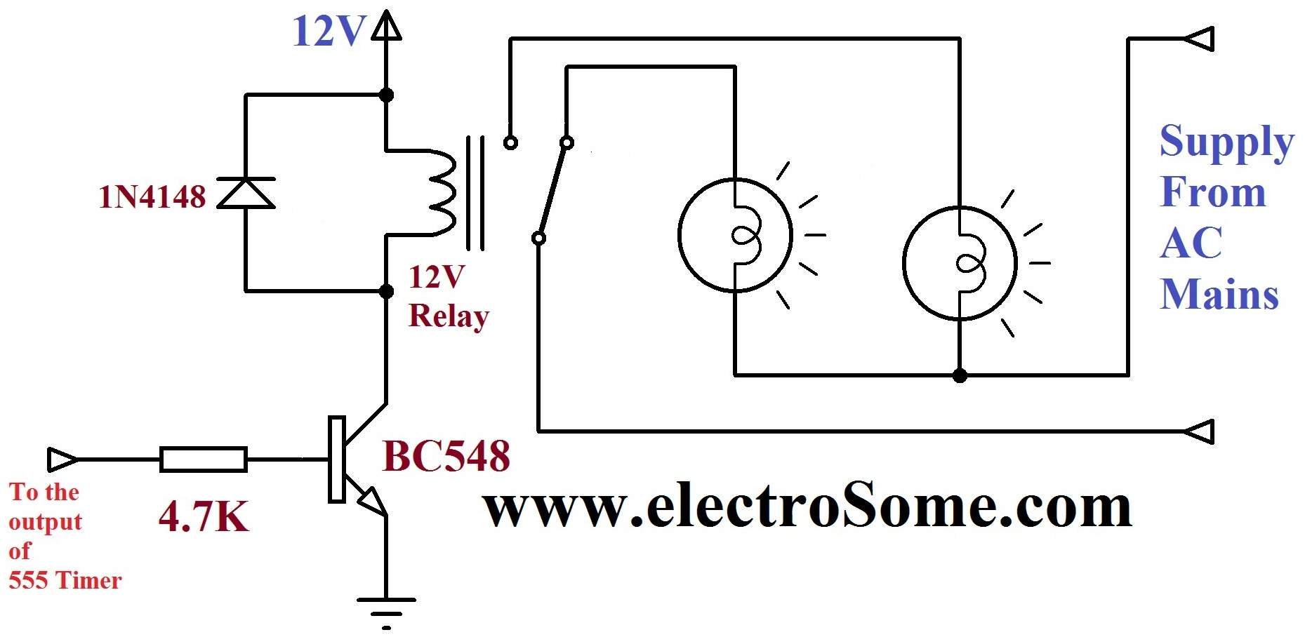 led light circuit diagram for dummies application server dancing using 555 timer relay