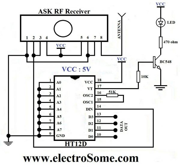 wireless water level indicator circuit diagram