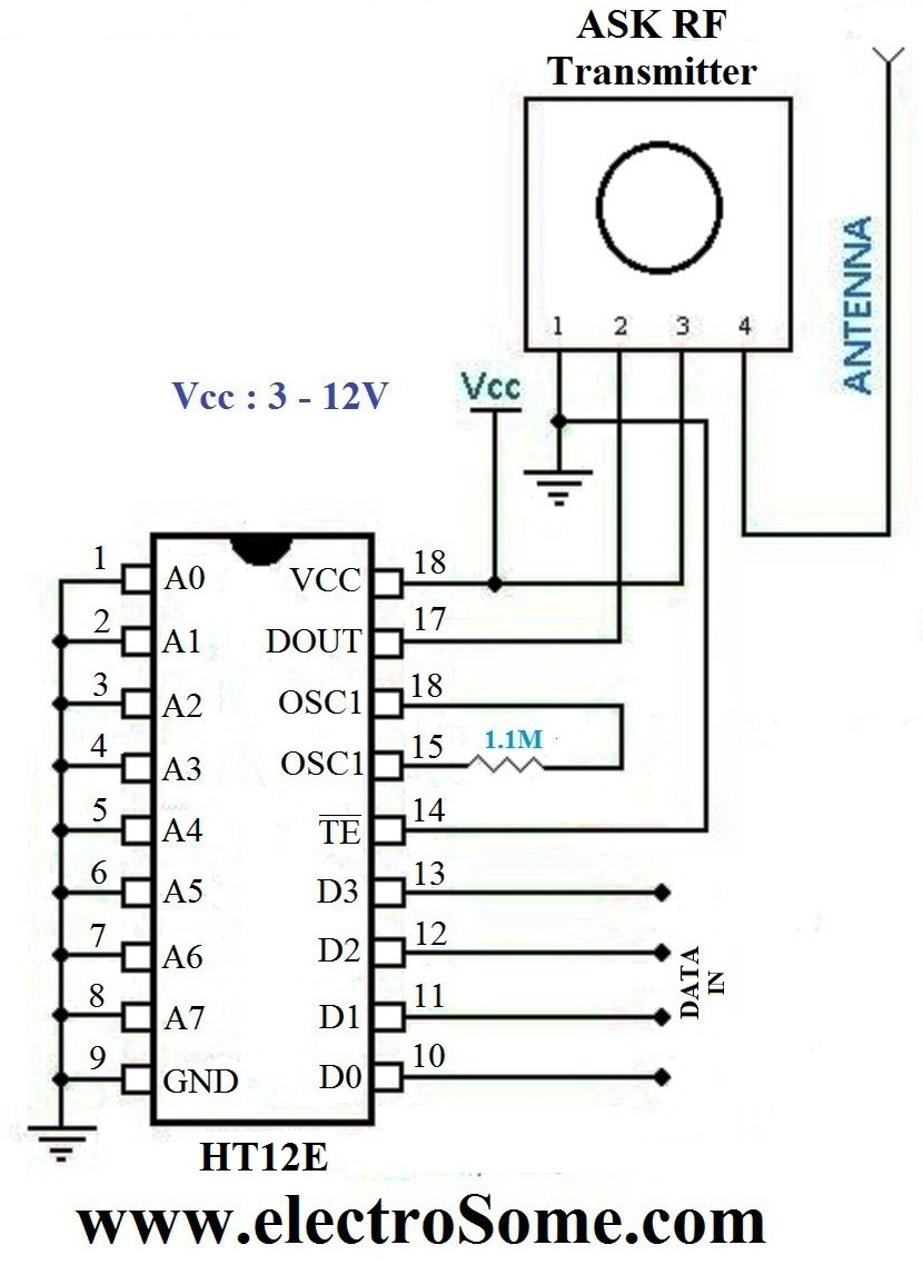 hight resolution of wireless transmitter and receiver using ask rf module rf transmitter circuit diagram pdf rf transmitter circuit diagram