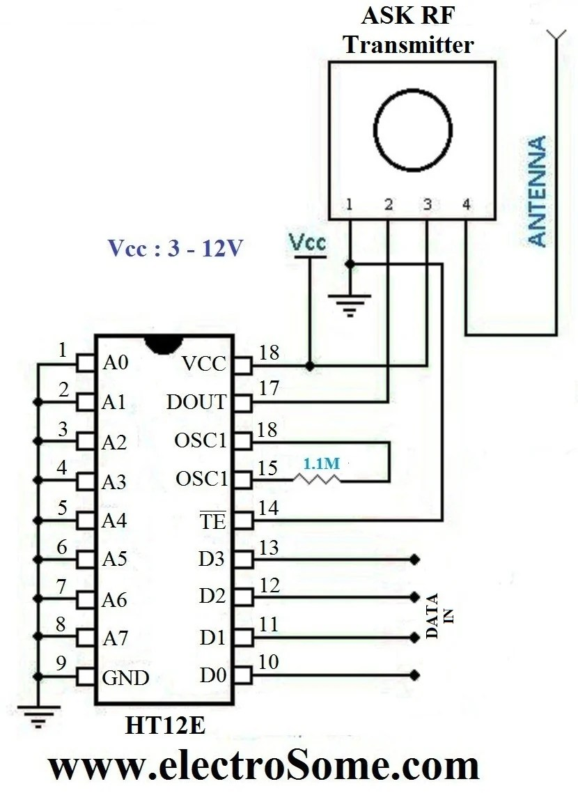 hight resolution of wireless transmitter and receiver using ask rf module rf module circuit circuit diagram and layout modules