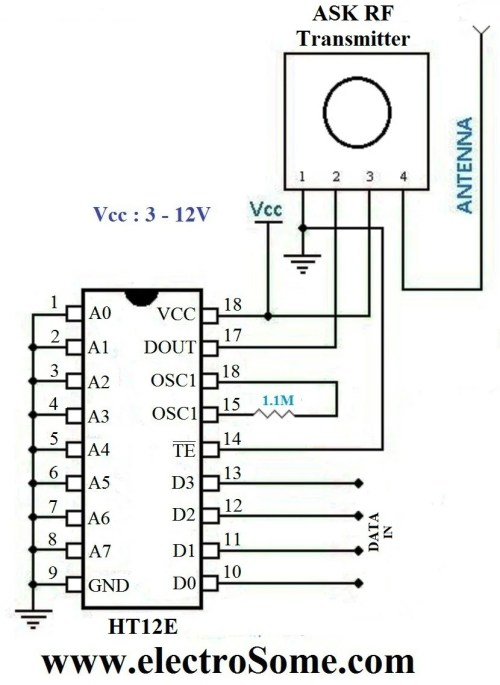 small resolution of wireless transmitter and receiver using ask rf module rf transmitter circuit diagram pdf rf transmitter circuit diagram