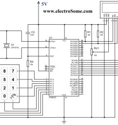 circuit diagram interfacing keypad with 8051 microcontroller using keil c [ 2048 x 1527 Pixel ]