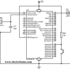 2 Position Push Pull Light Switch Wiring Diagram 4 Pin Mini Din Power Connections Using Button With Pic Microcontroller Mikroc