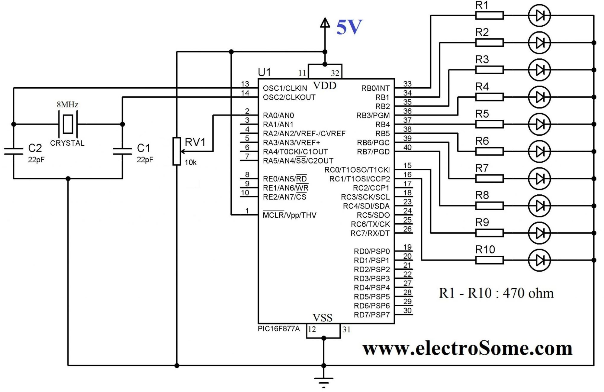 hight resolution of using internal adc module of pic microcontroller