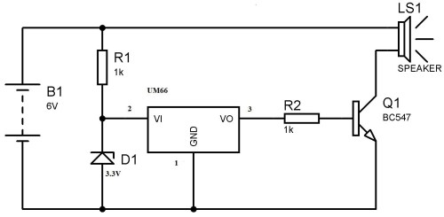 small resolution of um66 melody generator circuit for beginners rh electrosome com doorbell chime schematic doorbell circuit diagram
