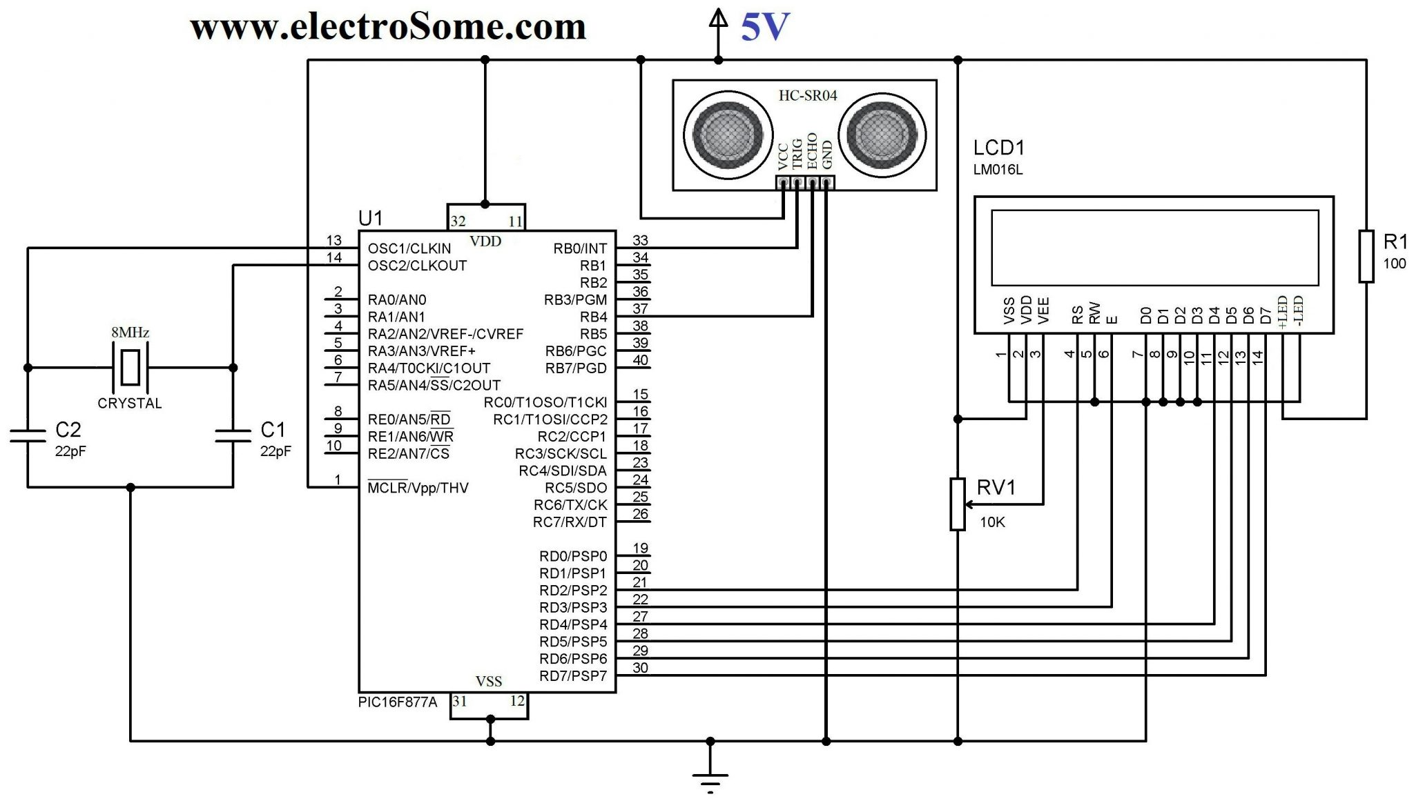 Ultrasonic Transmitter Switch Circuit Schematic Diagram