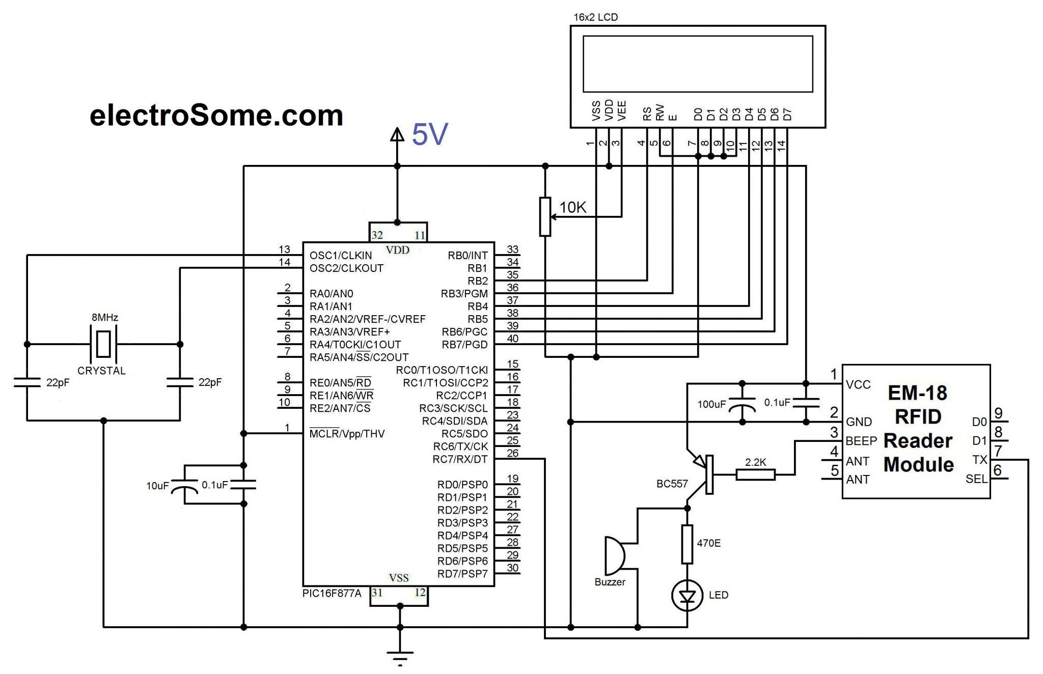 rfid reader circuit diagram