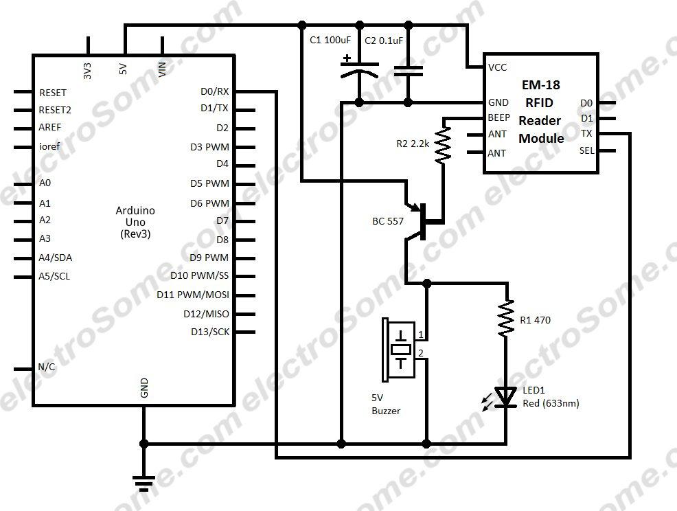 Interfacing EM-18 RFID Reader Module with Arduino Uno