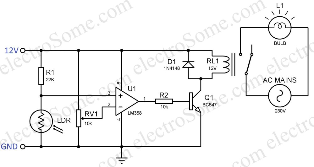 medium resolution of automatic night lamp using ldr automatic night lamp circuit diagram