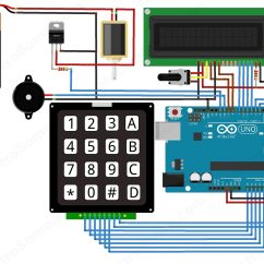 Electronic Number Lock Circuit Diagram Kenwood Kvt 514 Wiring Arduino Keypad Schematic 12 Collection Of