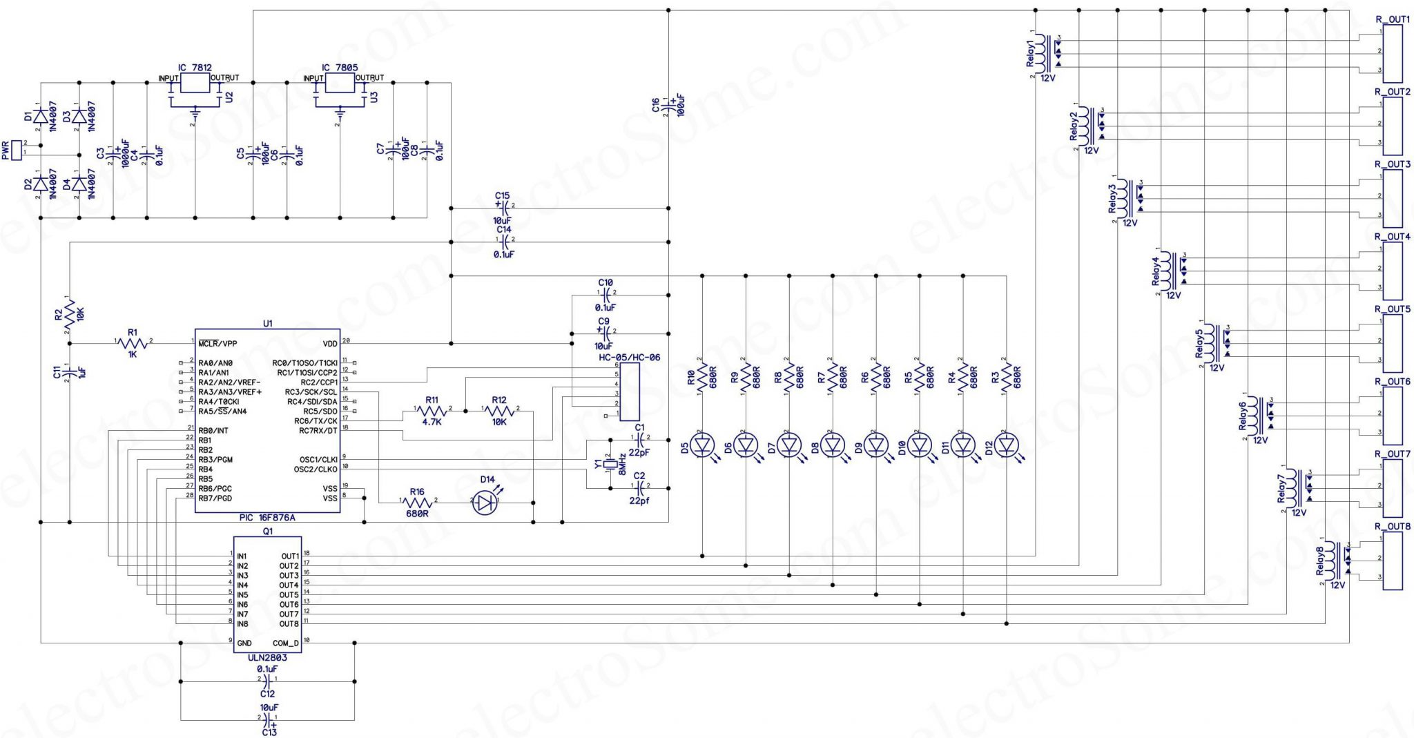 Mobile Incoming Call Indicator Circuit Diagram Auto Electrical Pcb