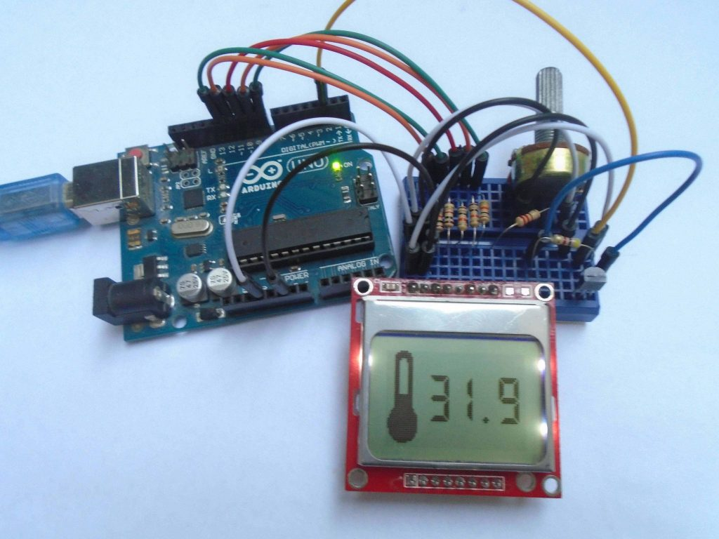 Digital Thermometer Circuit Diagram Using Ic741