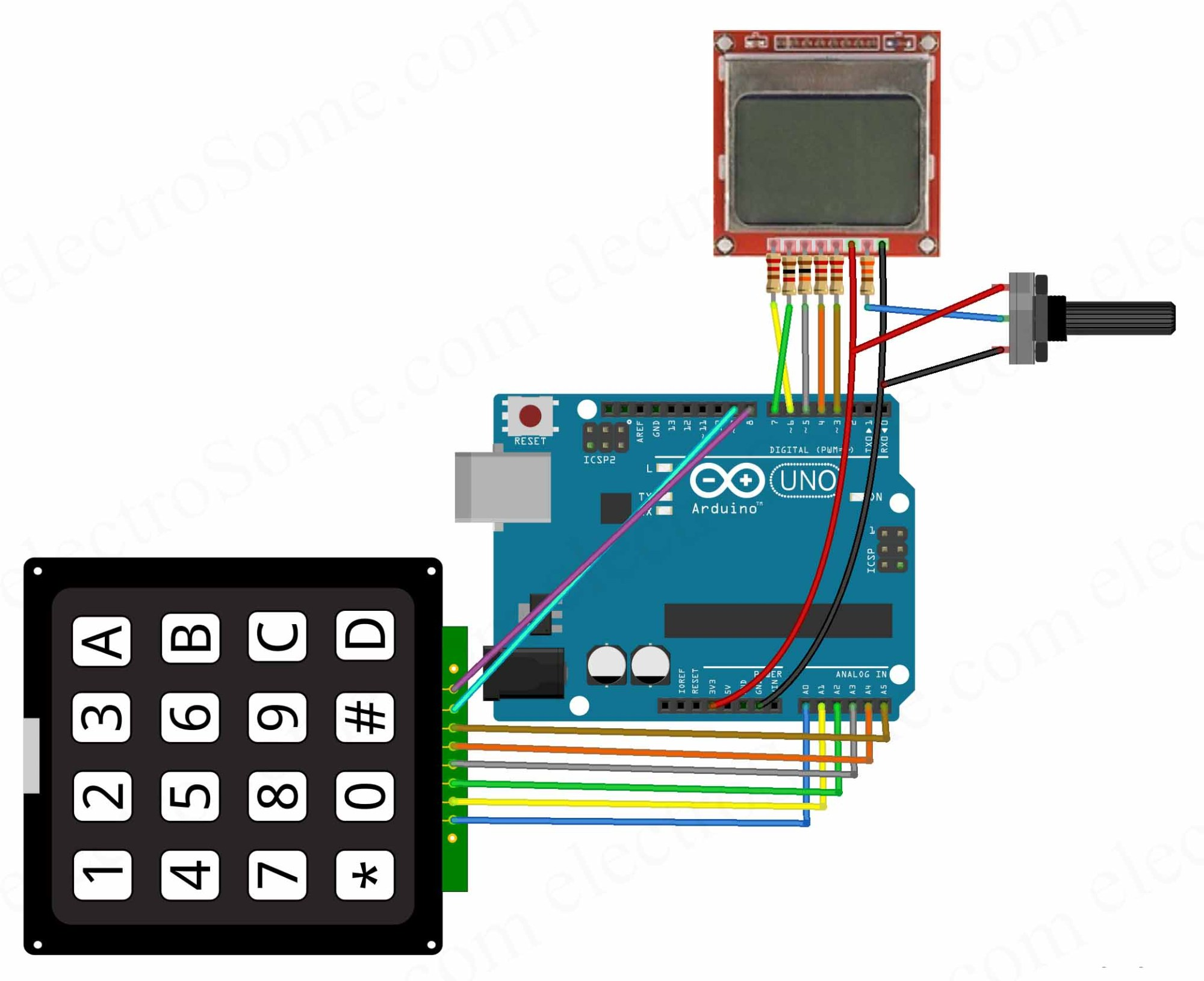 hight resolution of calculator using arduino uno circuit diagram