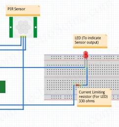interfacing pir motion sensor with arduino circuit diagram [ 1622 x 745 Pixel ]