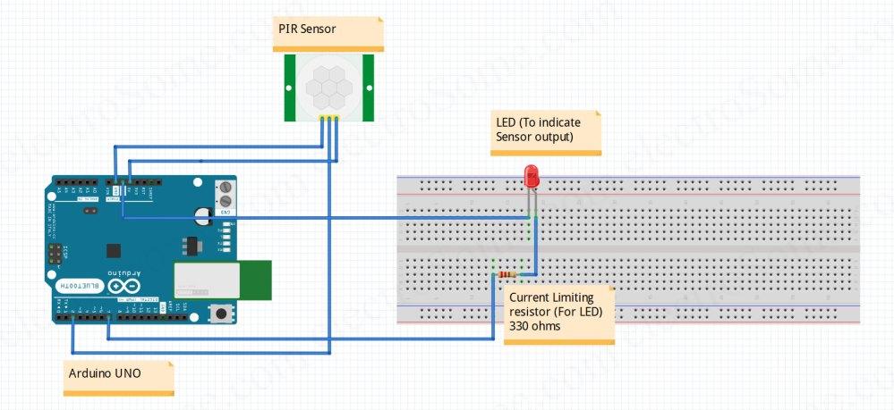 medium resolution of interfacing pir motion sensor with arduino circuit diagram