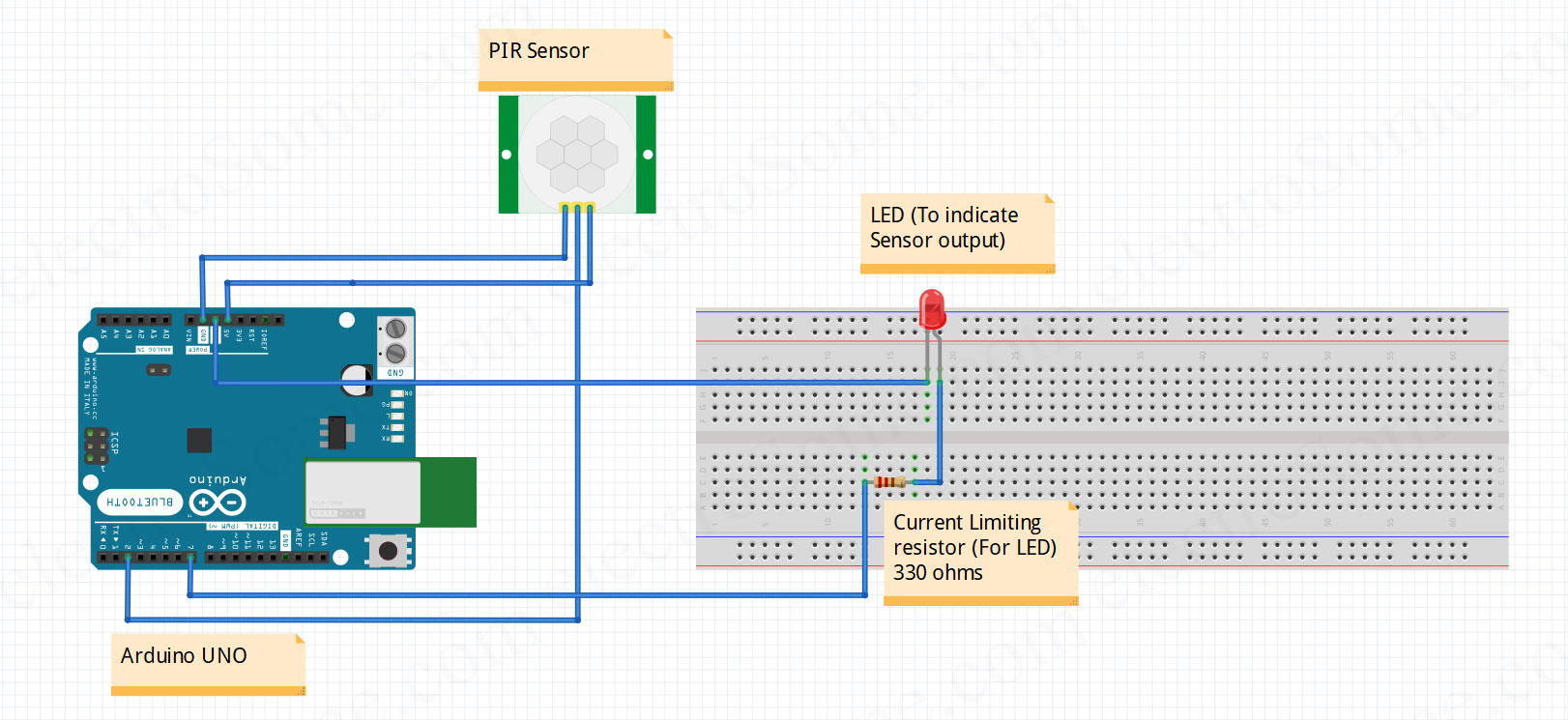 hight resolution of interfacing pir motion sensor with arduino circuit diagram