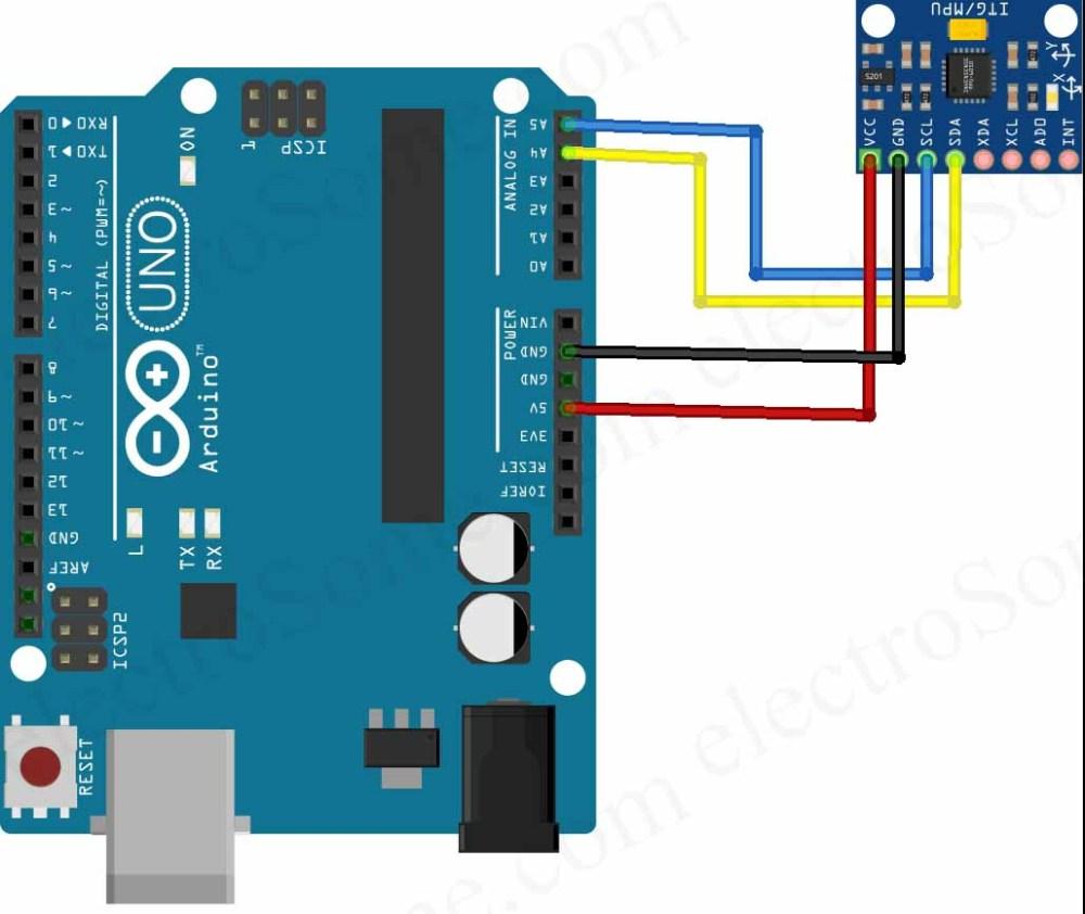 medium resolution of interfacing mpu6050 with arduino uno circuit diagram