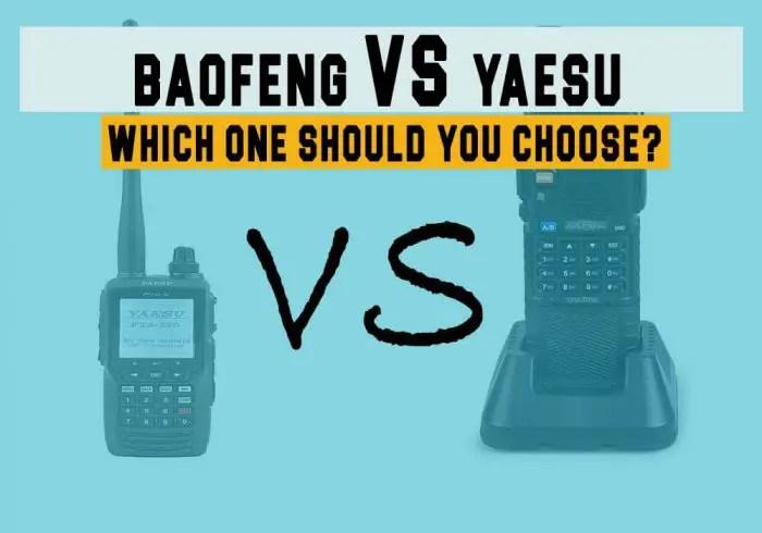 BaoFeng vs Yaesu