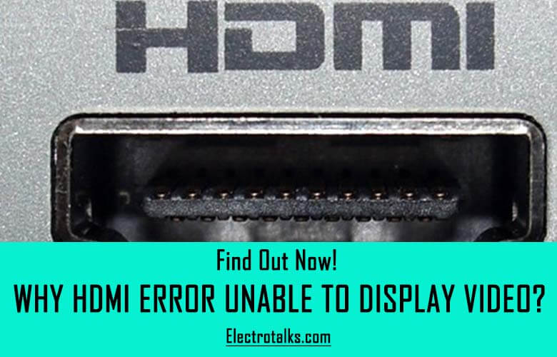 hdmi error unable to display video fix