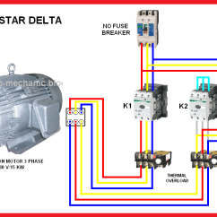 Contactor And Thermal Overload Relay Wiring Diagram How To Read Vw Diagrams All About Star Delta Starting Of Ship Motors Electro Technical