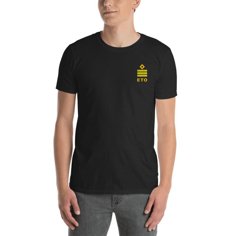 Electro Technical Officer (ETO) working shirt with ship ETO rank 3