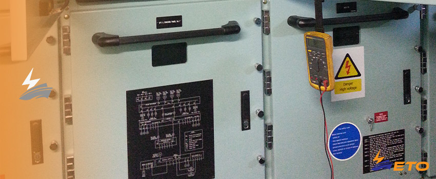 Total loss of power on ship cause by local circuit breaker