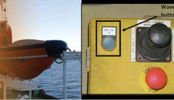 Ship Fast Rescue boat remote control not function correctly