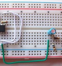 image of 555 circuit on breadboard [ 3271 x 2065 Pixel ]