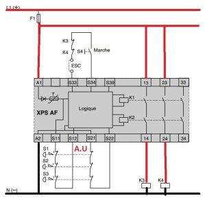 Schema de cablage XPS preventa schneider telemecanique 24v dc