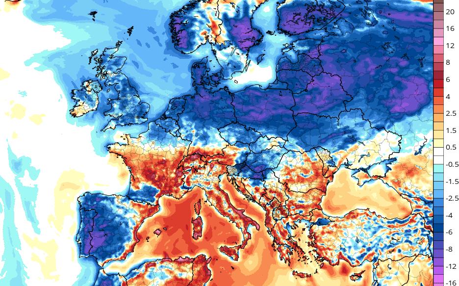Following Last Week's Heat, Europe is now Experiencing Well