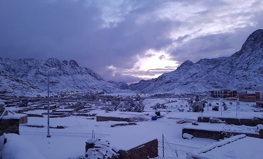 News Burst 15 Gennaio 2020 - Snow on Egypt's Sinai peninsula
