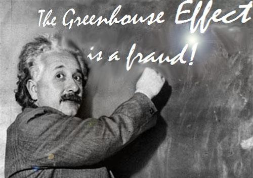 """Albert Einstein: """"CO2 Can't Store Heat"""""""