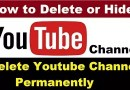 How to Delete OR Hide Youtube Channel Permanently ?