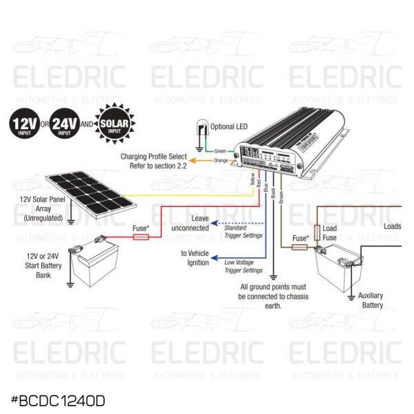 Redarc BCDC1240D Dual Input 25A In Vehicle DC Battery