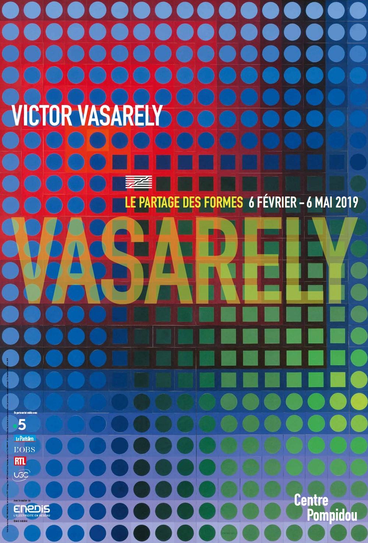 Vasarely Le Partage Des Formes : vasarely, partage, formes, L'exposition, Vasarely,, Partage, Formes, Centre, Georges, Pompidou, Février, 2019), Elefa, Paris
