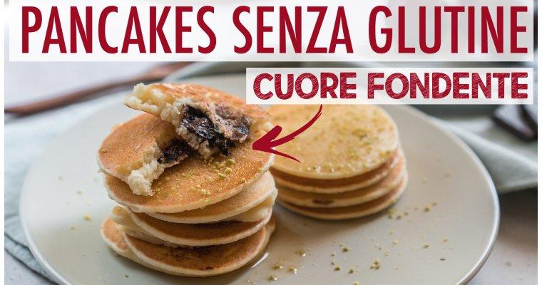 Pancakes senza glutine con cuore fondente