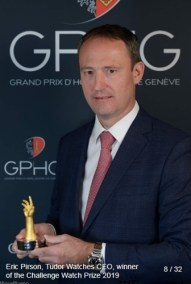 Eric Pirson (Directeur Tudor Watch), winner of the challenge watch prize 2019