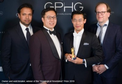 Thein Ming (Founder and CEO MING), winner of the horological revelation prize 2019
