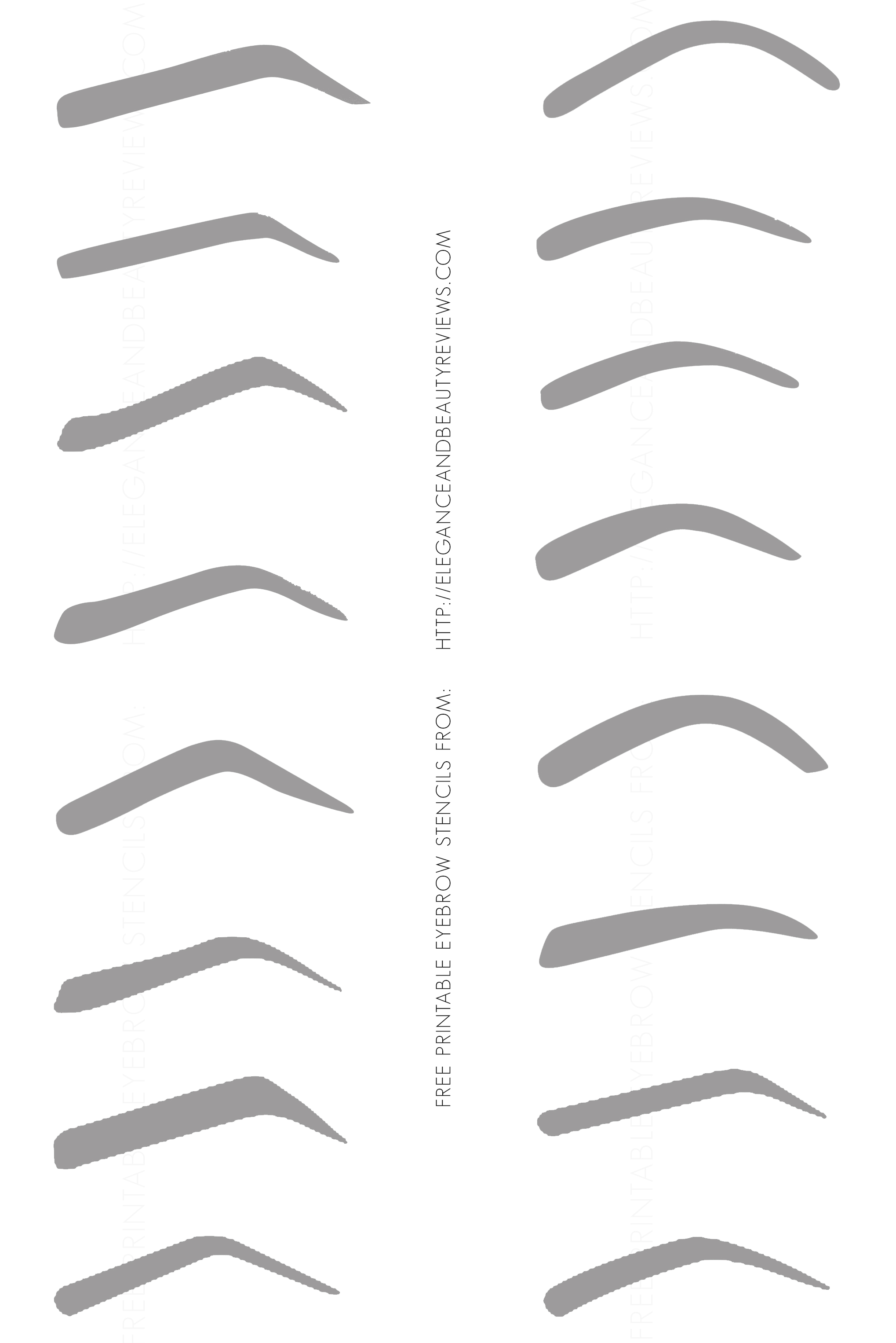 free printable eyebrow stencils With eyebrow templates printable