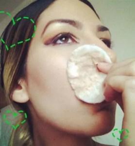 removing makeup naturally