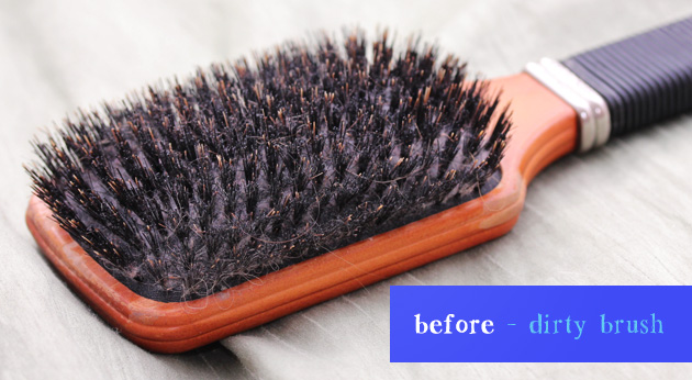 how to properly clean your hair brush