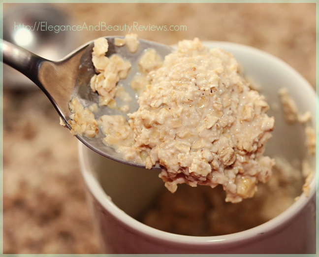 oatmeal cooked with green tea